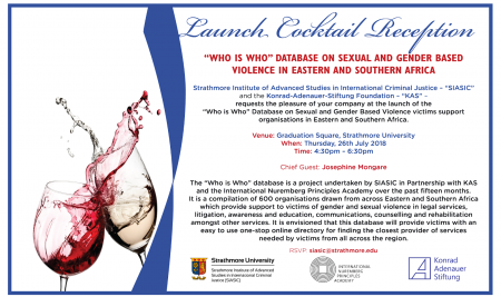 Launch of the 'Who is Who' database.
